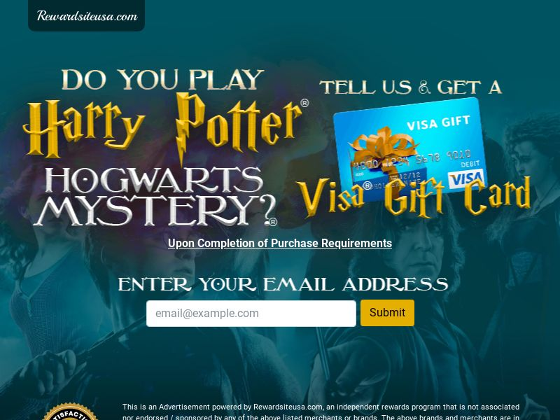 RewardSiteUSA - Harry Potter - Email Submit - US - Incent - DIRECT