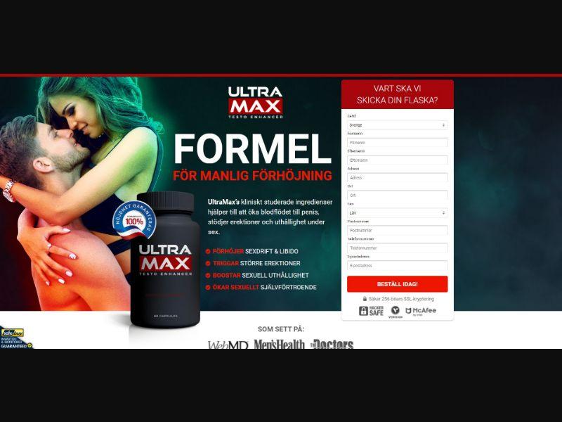 Ultra Max Testo Enhancer - Male Enhancement - SS - [SE]