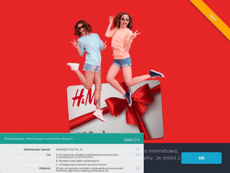 H&M Karta Podarunkowa (PL), [CPL], Fashion, Clothes, Lotteries and Contests, Single Opt-In, shop, gift, paypal, survey, gift, gift card, free, amazon