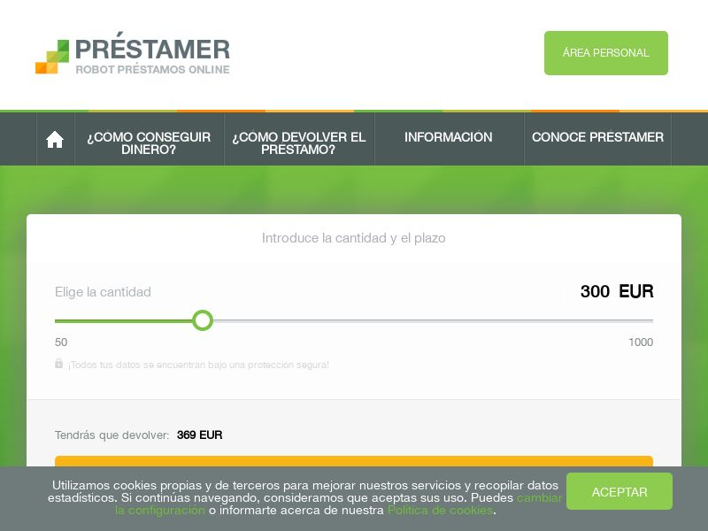 Préstamer - ES (ES), [CPA | CPL], Business, Loans, Short term loans, Loan Approval, loan, money, credit