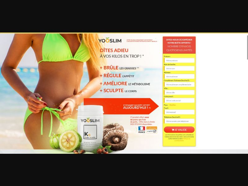 YooSlim - Diet & Weight Loss - Trial - [FR]