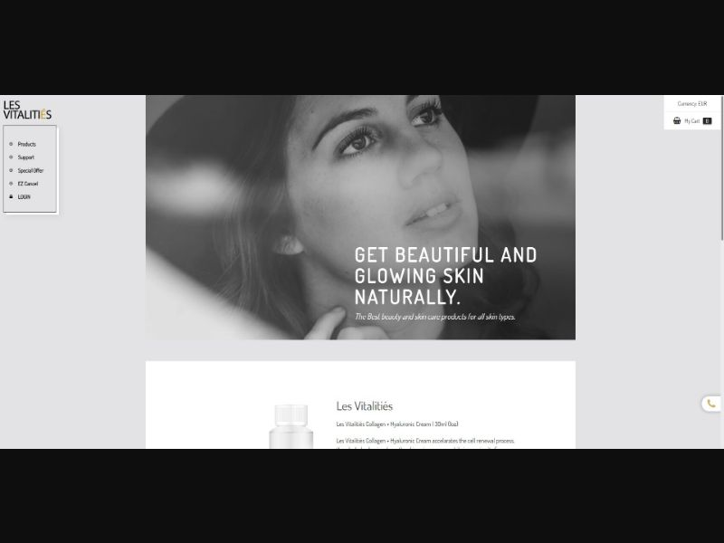 Les Vitalities - Skin Care - Trial - [FR, CA] - with 1-Click Upsell [Step1 $30.10 / Upsell $28.00]