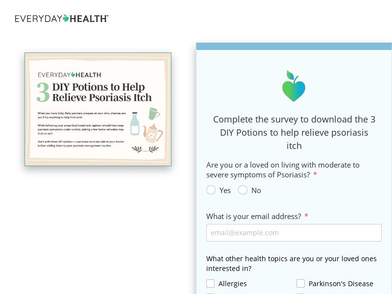 Have you been diagnosed with Psoriasis? - US V2