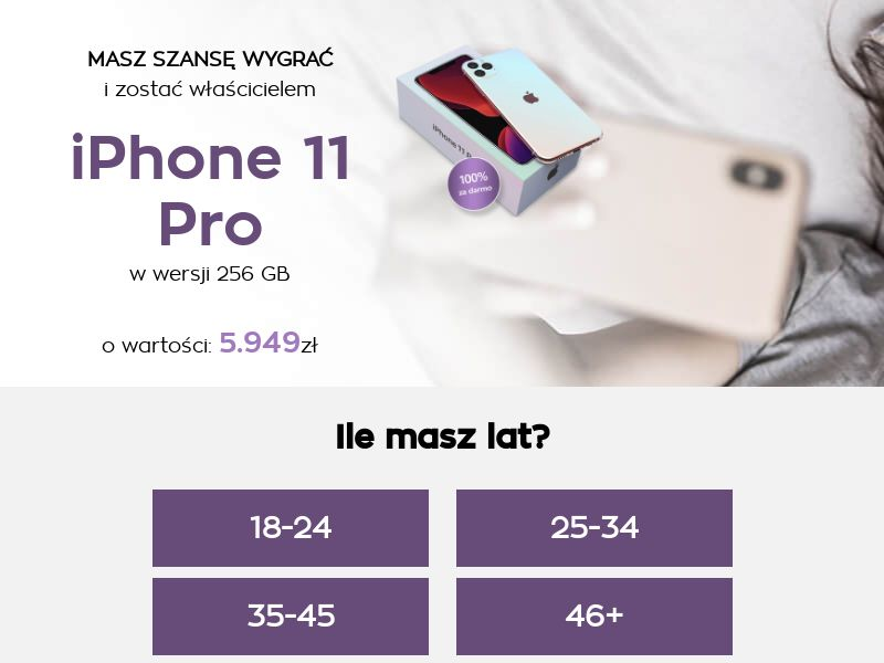 iPhone 11 Pro - Ankieta (PL), [CPL], Lotteries and Contests, Survey, paypal, survey, gift, gift card, free, amazon