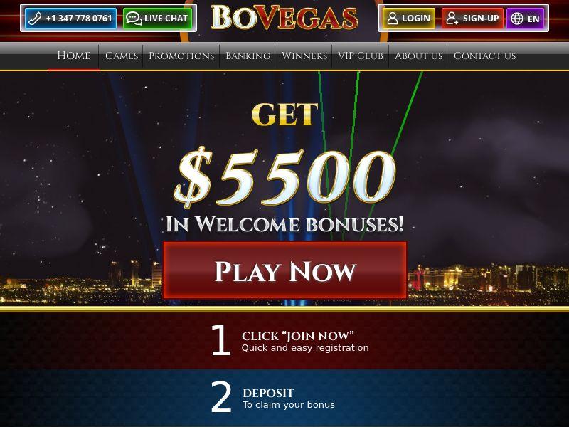 12239) [WEB+WAP] BOVegas Casino - FR - CPA