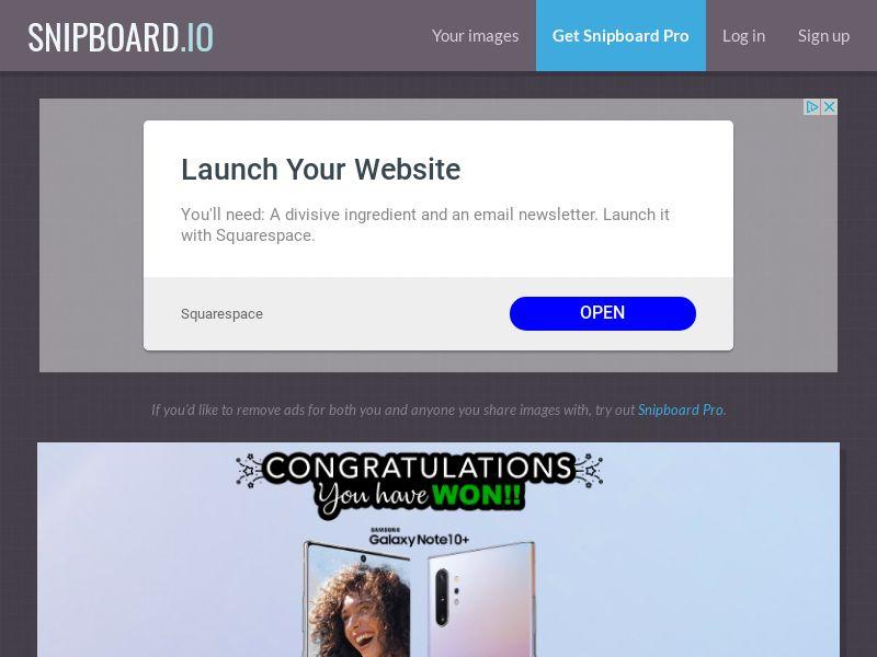 AbsoluteWinner - Samsung Galaxy Note10+ (Blue Swirl) US - CC Submit