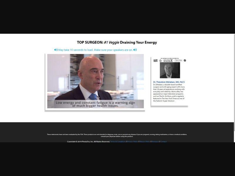 PhysioTru Age Defying Energy - SS - [US, UK, AU, NZ, CA]