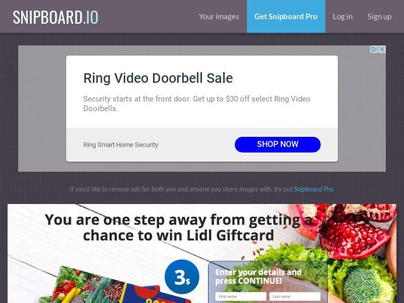 BigEntry - Lidl Supermarket Giftcard v1 AU - CC Submit