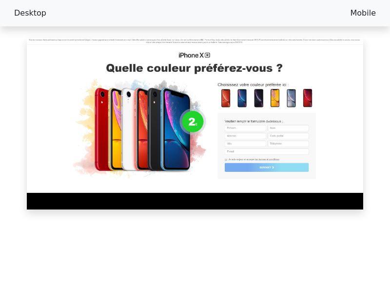 Iphone XR - CC-submit [FR]