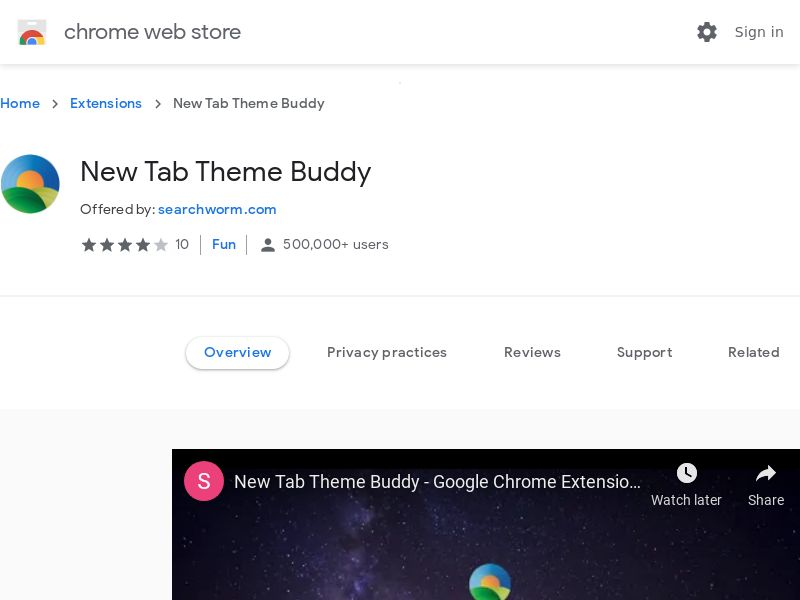 New Tab Theme Buddy Chrome Extension [RED]