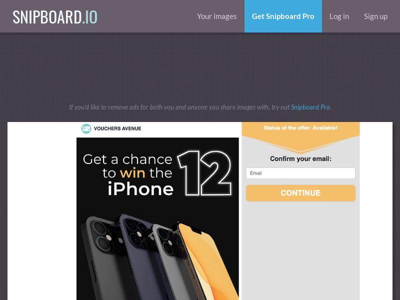 Vouchers Avenue - iPhone 12 US - SOI