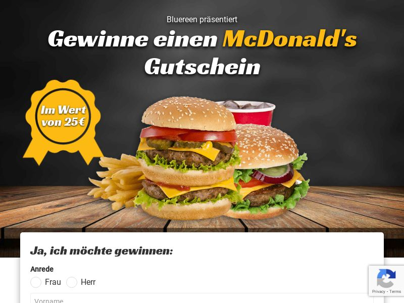 McDonalds - DE (DE), [CPL], Lotteries and Contests, Single Opt-In, paypal, survey, gift, gift card, free, amazon