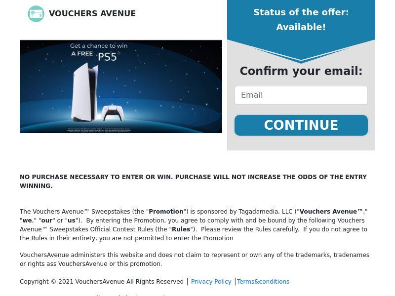 Vouchers Avenue - Playstation 5 - CPL - US [EXCLUSIVE]