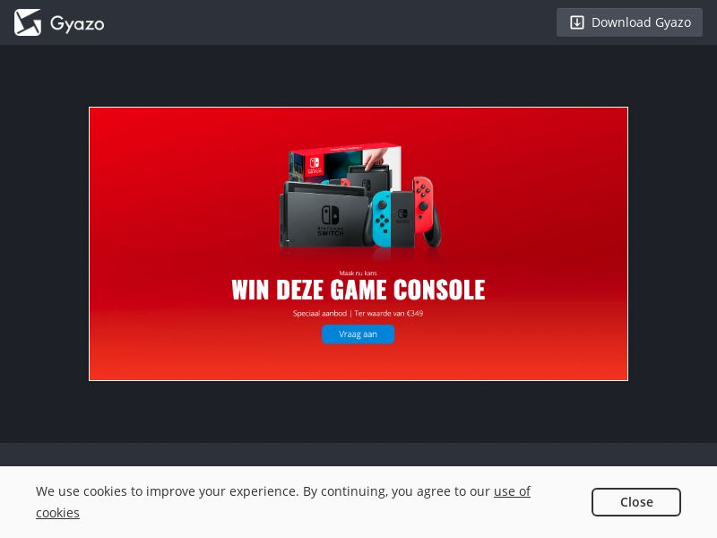 Win A Nintendo Switch Sweeps - BE/NL