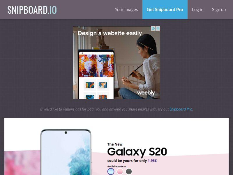 G33K - Samsung Galaxy S20 IT - CC Submit