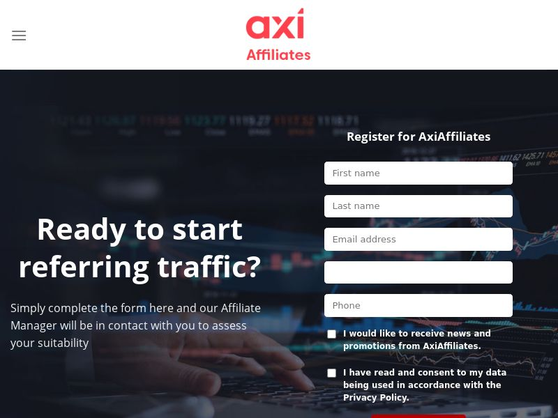 Axi Affiliates. Forex up to $700 CPA payout
