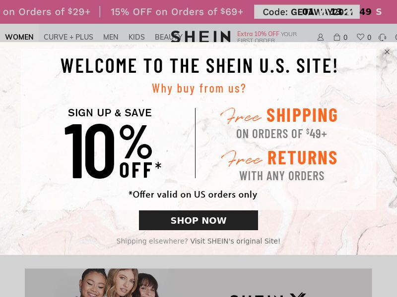 SHEIN (AU,AT,BE,CA,FR,IE,IT,MX,NL,RU,ES,SE,GB,US,DE), [CPS], Fashion, Clothes, Shoes, Accessories and additions, Accessories, Jewelry, Presents, Sell, shop, gift