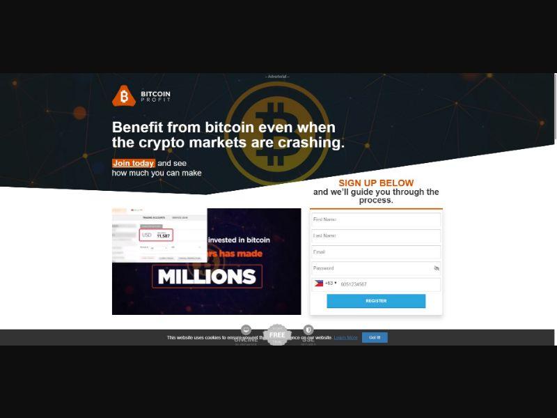 Bitcoin Profit - $250 min CTC - VSL - Crypto - SS - [50 GEOs]
