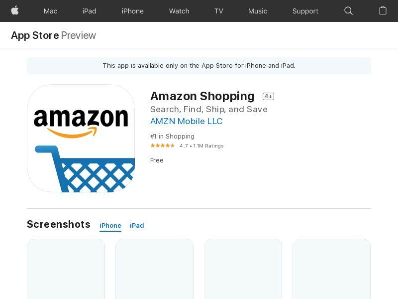 Amazon - Shopping made easy IOS IN