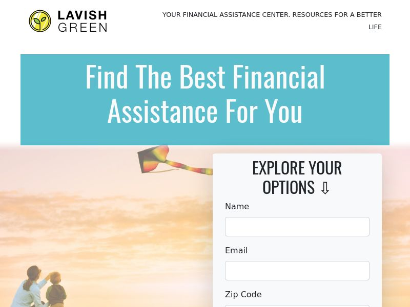 LavishGreen - Financial Assistance - First Page Submit | US