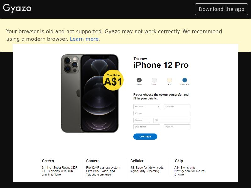 Win iPhone 12 Pro (UK) (Trial) (Personal Approval)
