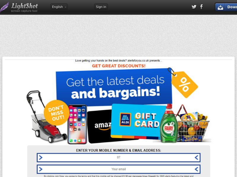 Alerts For You - Aldi LP (UK) (CPL) (Personal Approval)