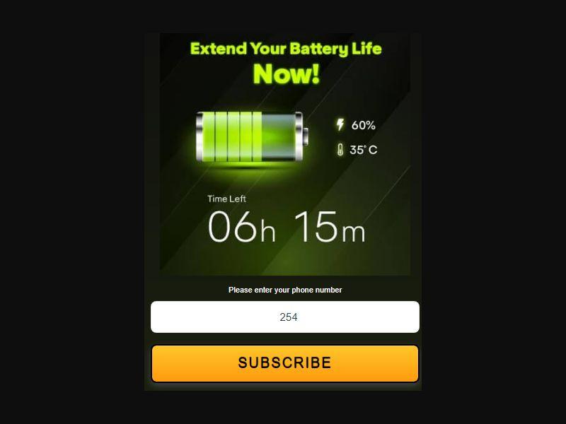 KE - Battery Saver (Safaricom) [KE] - Pin submit