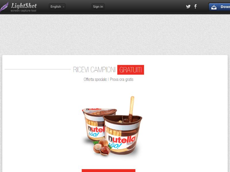Portal Leads - Nutella Go (IT) (CPL) (Incent) (Personal Approval)