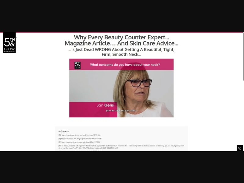 5th & Glow Unbuttoned Beauty - VSL - Skin Care - SS - NO SEO - [US]