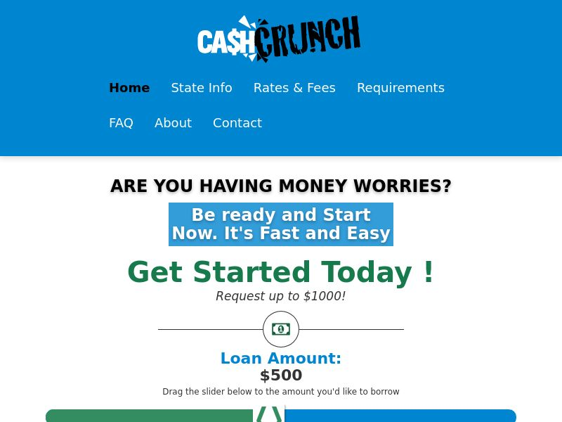 Cash Crunch! [US] (Email,Social,Banner,PPC,Native,Push,SEO,Search) - RevShare {No Networks}