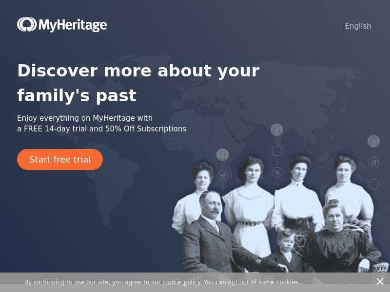 MyHeritage - Genealogy & DNA's Test - CPA - [19 countries]