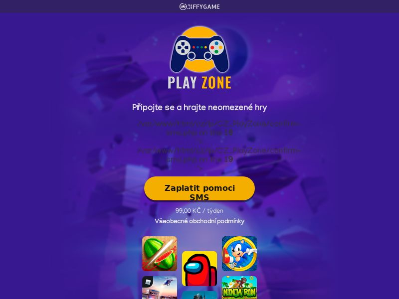 Game Portal - O2 , T-MOBILE , VODAFONE - CZ (CZ), [CPA], Entertainment, Games, Browser games, Client games, Confirm PIN, game