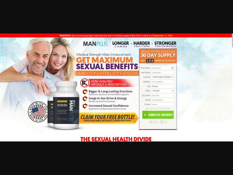Man Plus - Male Enhancement - SS - [US, CA, GB, IE]