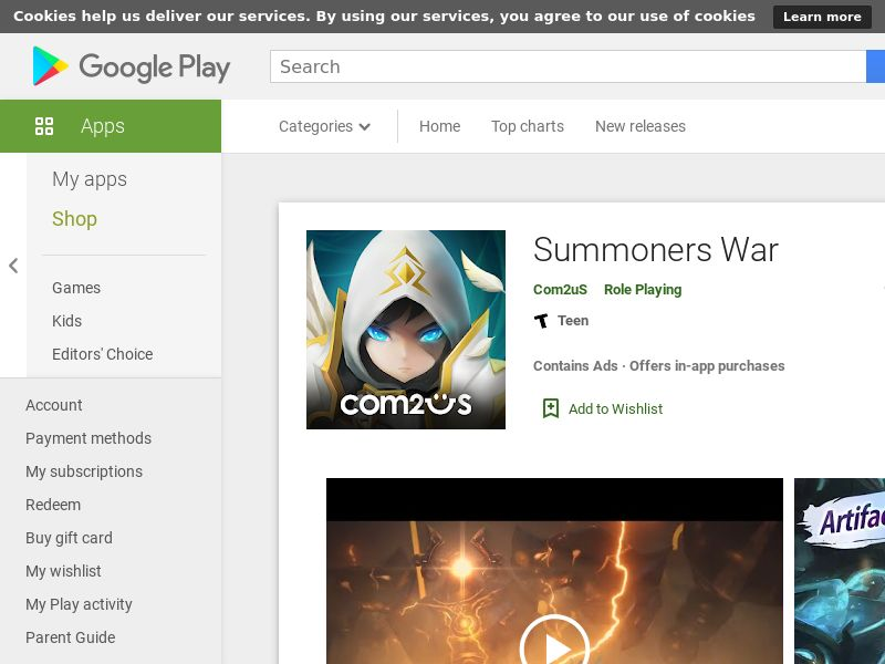 Summoners War- Android, US