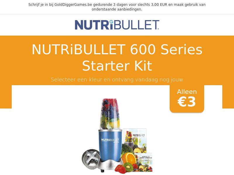 Nutribullet 600 Series Starter Kit - BE