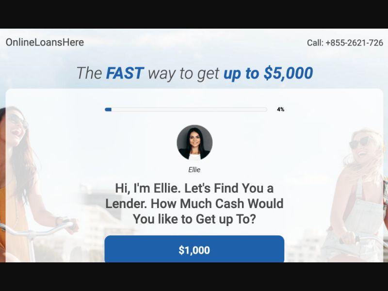 Online Loans Here - CPL DOI - US - Finance - Responsive