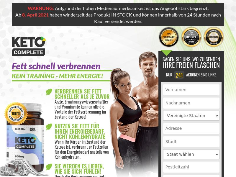 Keto Complete [DE,AT,CH] (Banner,Native,Social,Search,SEO,PPC) - CPA {No Email-NoBB}