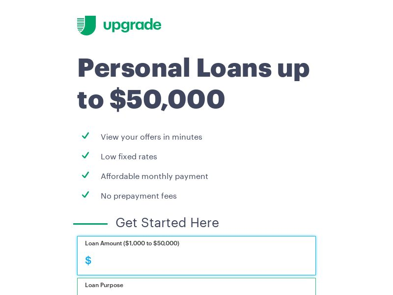 Upgrade - Personal Loans - Revshare 1.8% - [US]