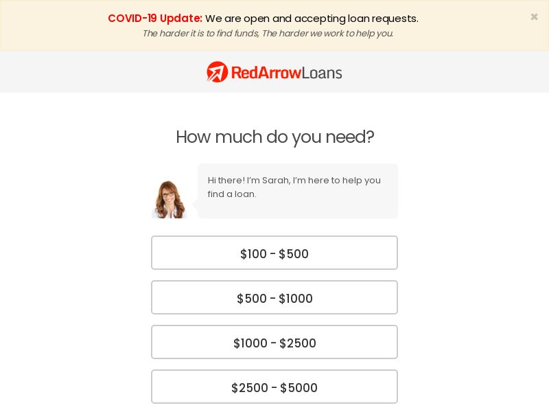 US - Red Arrow Loans - Email