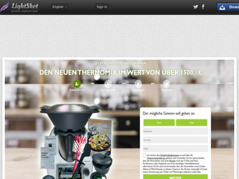 Win Thermomix (DE) (CPL) (Personal Approval)