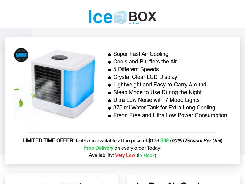 IceBox Air Cooler (INTL) (CPS) (Personal Approval)