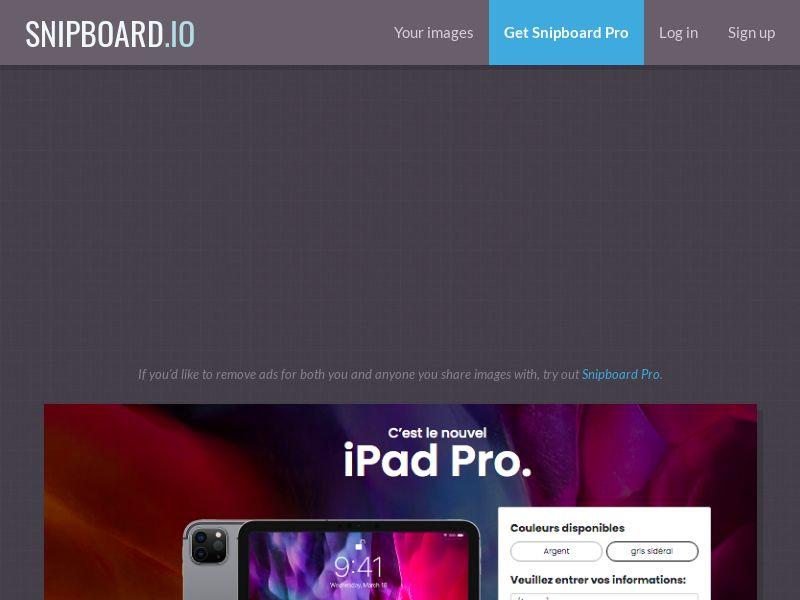 MyeBooky - iPad Pro LP25 FR - CC Submit