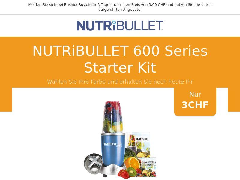 Nutribullet 600 Series Starter Kit - CH