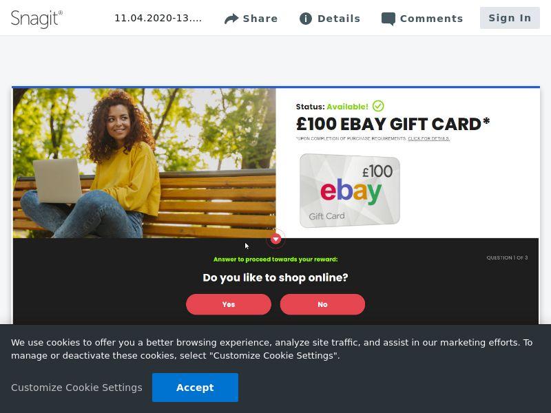 Ebay £100 - SOI   UK