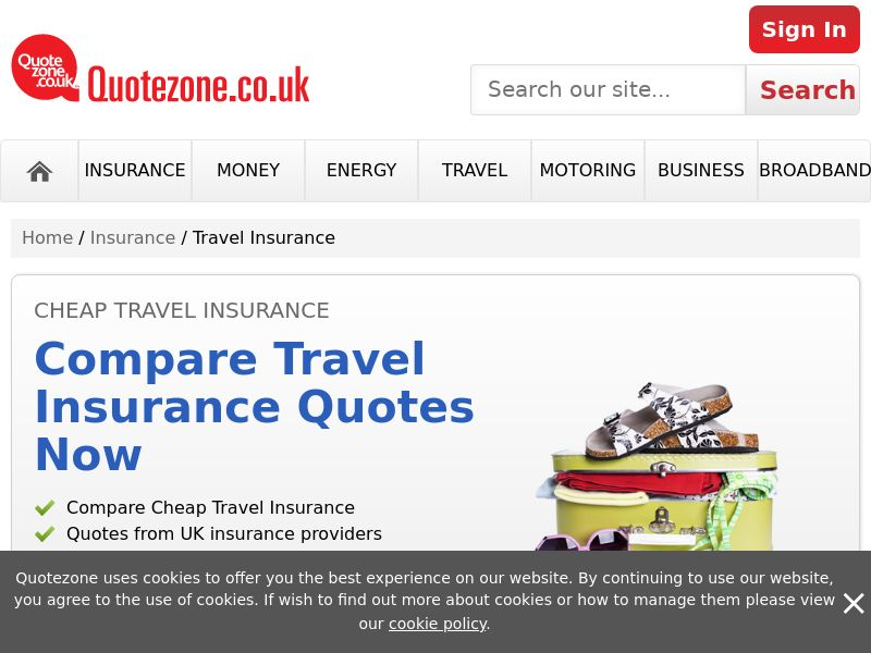 QuoteZone - Compare Travel Insurance - CPL (UK)