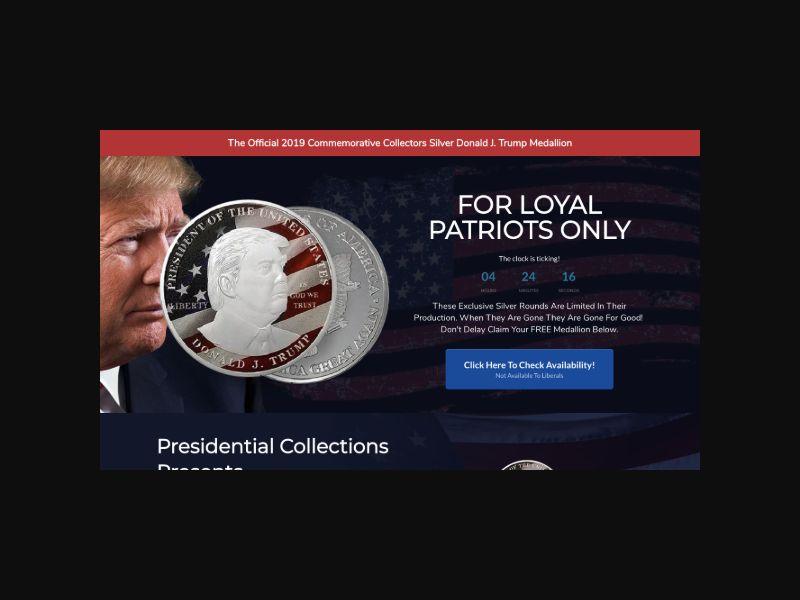 Silver Trump Coin (US)