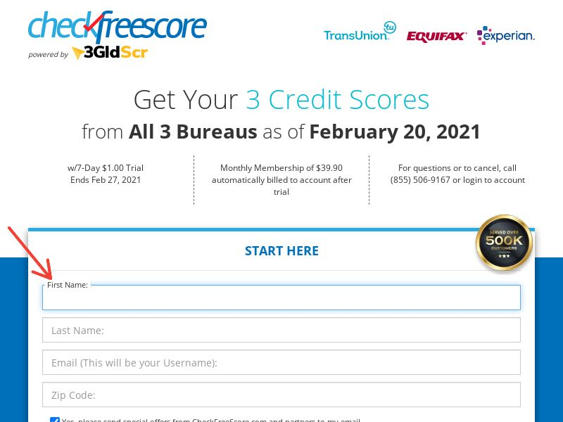 CheckFreeScore (US) (Trial) (Personal Approval)