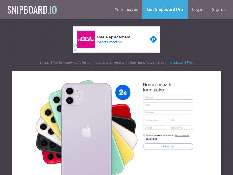 BigEntry - iPhone 11 v2 (Static LP) FR - CC Submit