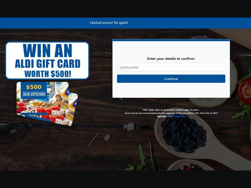 Supermarket Vouchers & Gift Cards [AU] - SOI registration