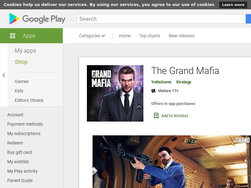 The Grand Mafia - US (US), [CPA], Entertainment, Games, Client games, Install, game